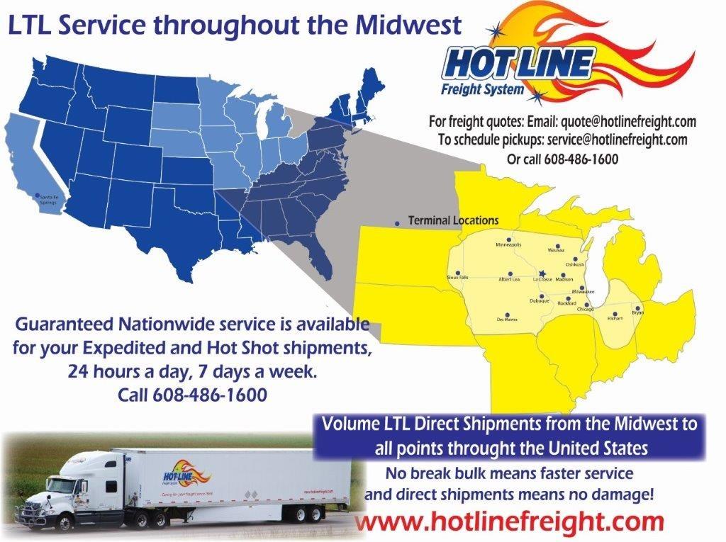LTL Midwest Map